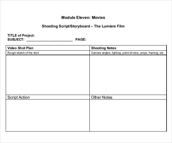 Sample Free Storyboard - 33+ Documents Download in PDF, Word, PPT - video storyboard template
