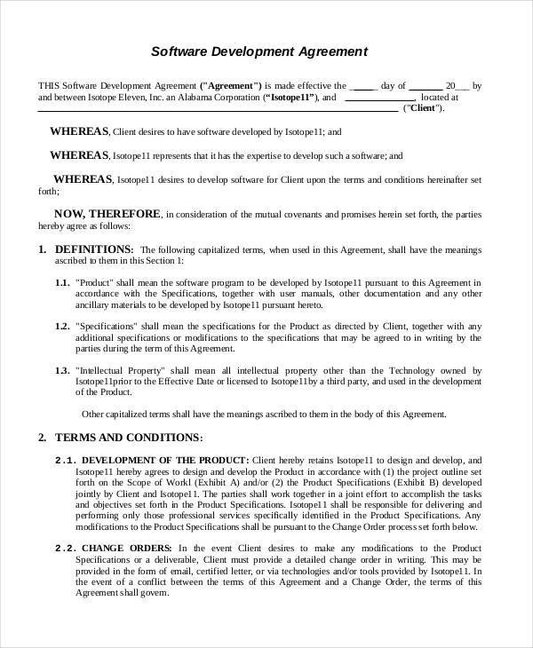 mutual agreement format – Contract Agreement Format
