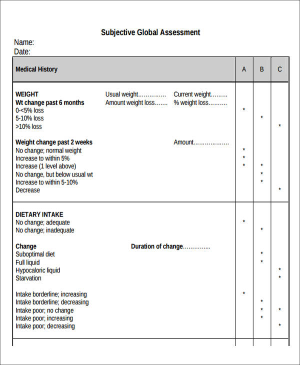 38+ Assessment Forms in PDF Sample Templates - Assessment Form In Pdf