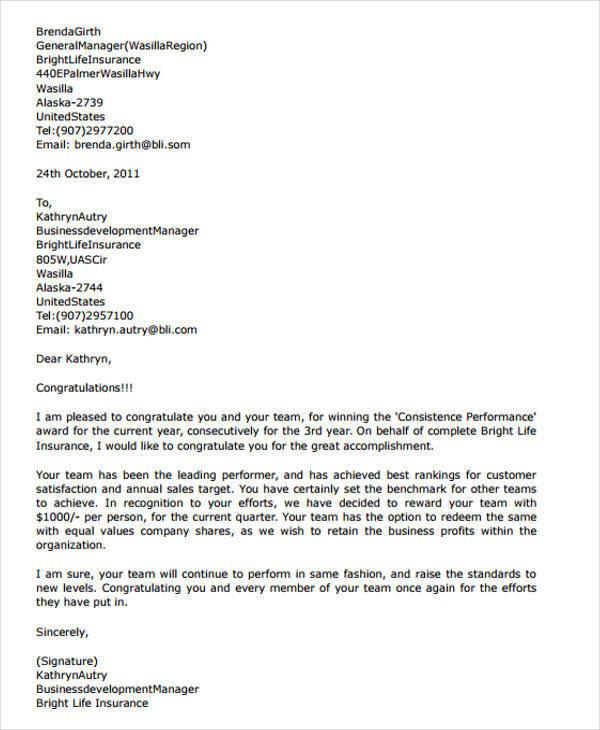 41+ Appreciation Letters in PDF