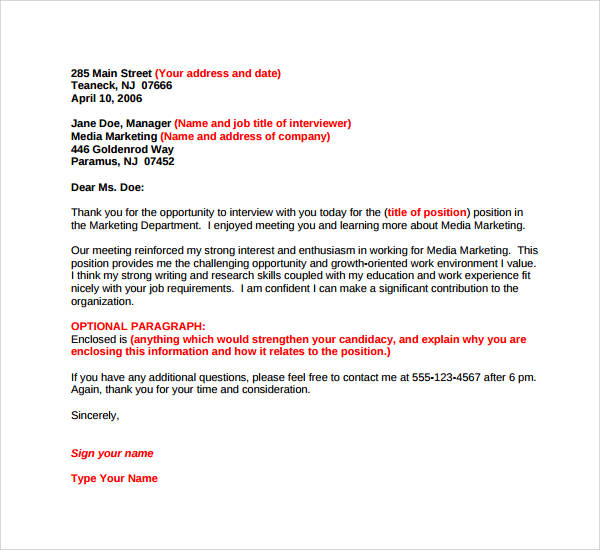 Internship Opportunity Thank You Letter  Invitation Letter Meaning
