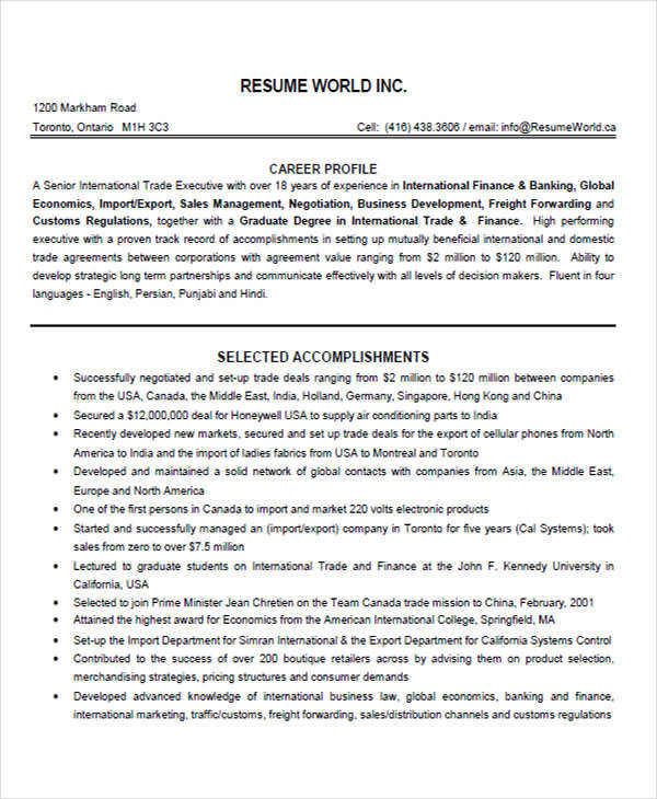 leading professional download freight forwarder resume sample as - freight forwarder resume sample
