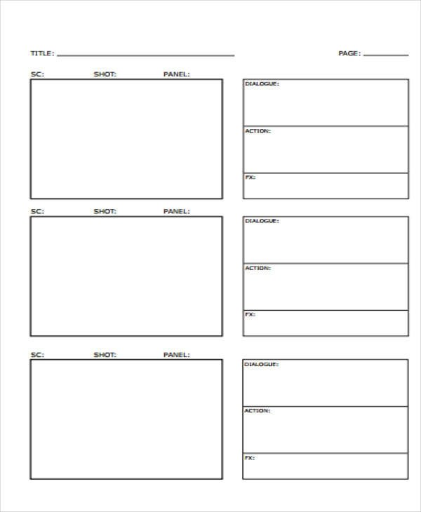 Vertical Storyboard - Design Templates
