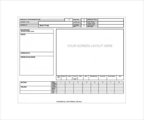 Storyboard Template Software Costumepartyrun