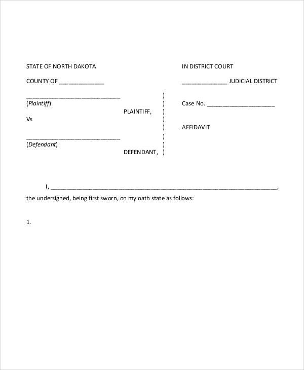 Free Affidavit Forms Online – Free Affidavit Forms Online