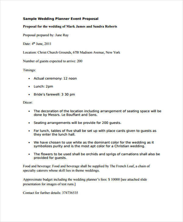event proposal pdf - event proposal template
