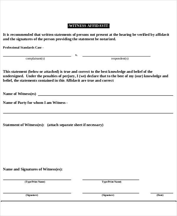 33 Free Affidavit Forms - affidavit statement of facts