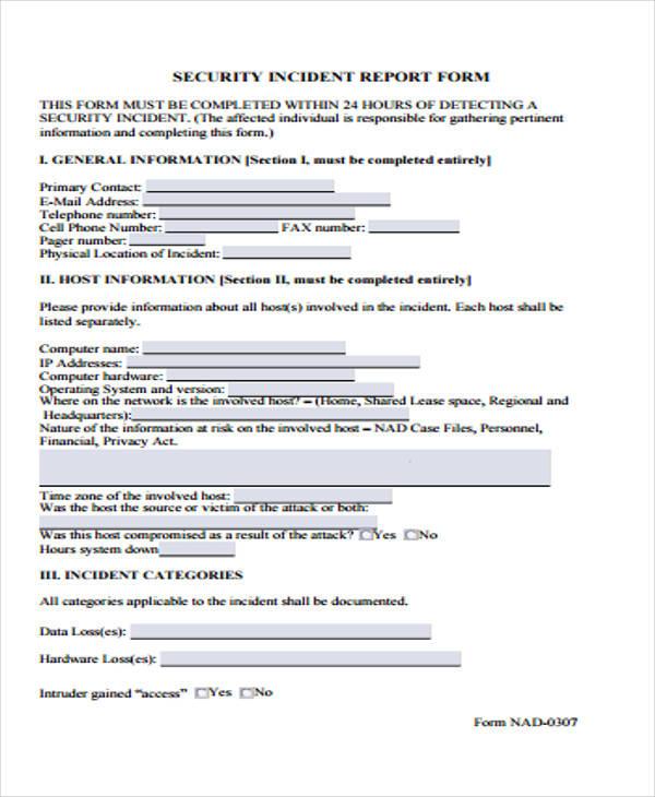 written incident report example - Josemulinohouse