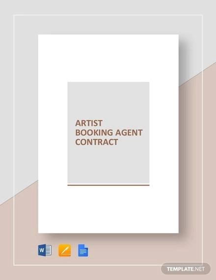 Booking Agent Contract Template - 9+ Download Free Documents in PDF