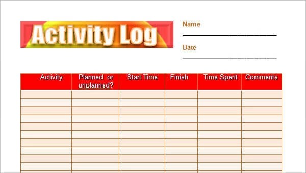 22 Daily Log Samples  Templates Sample Templates - daily log templates word