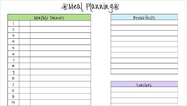 6+ Meal Calendar Template - Free Sample, Example, Format Download