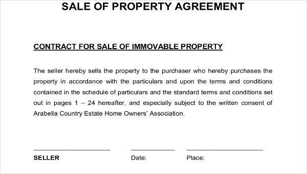 7 Property Contract Samples  Templates Sample Templates