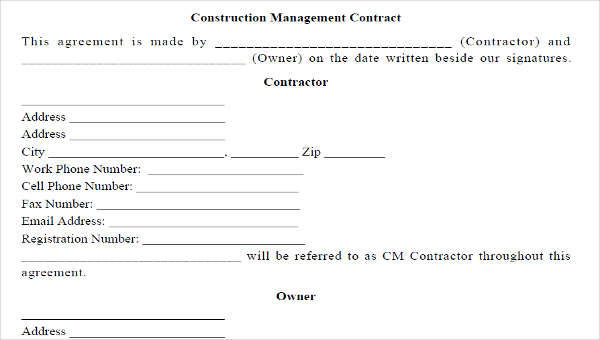 8 Management Contract Template \u2013 Free Sample, Example, Format Download