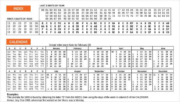 8+ Perpetual Calendar Template - Free Sample, Example, Format Download