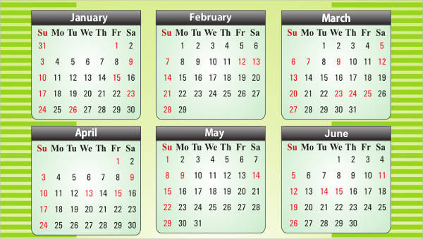 6+ Office Calendar Template - Free Sample, Example, Format Download