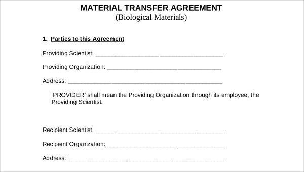 6+ Transfer Agreements \u2013 Examples in Word and PDF Sample Templates - transfer agreements