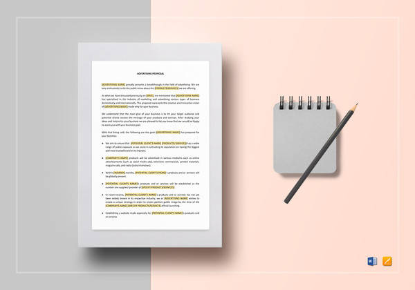 18+ Advertising Proposal Templates - Word, PDF, Pages