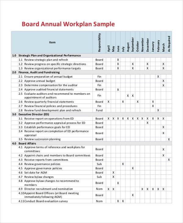 40+ Sample Work Plans