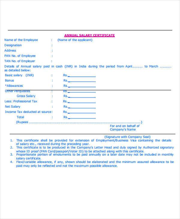 yearly salary certificate - Nisatasj-plus