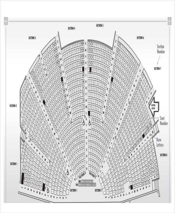 seating charts templates