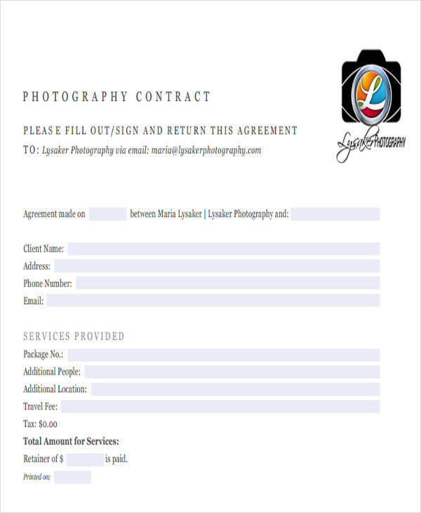 45+ Sample Contract Templates Sample Templates