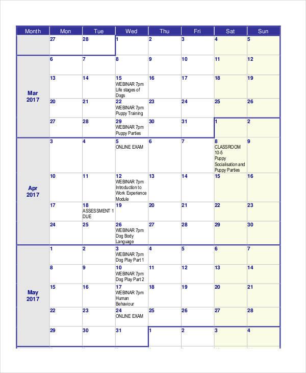 Classroom Calendar Template 15 free microsoft word newsletter - assessment calendar template
