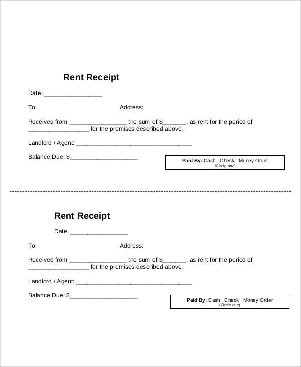 10+ Blank Receipt Templates - Examples in Word, PDF