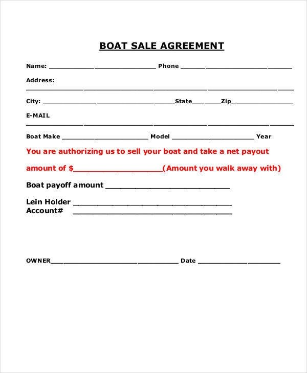 Sle Boat Purchase Agreement 9 Free Documents ~ Boat Purchase Agreement