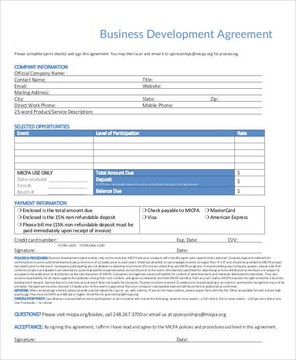 6+ Development Contract Template - Free Documents in PDF, Word - development contract templates