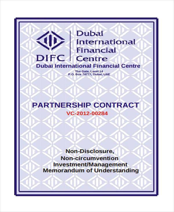 7+ Partnership Contract Templates \u2013 Free Sample, Example, Format - business partnership contract