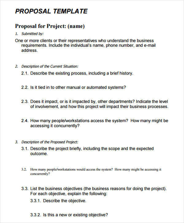 9+ Project Proposal Templates - Free Sample, Example Format Download - business project proposal template