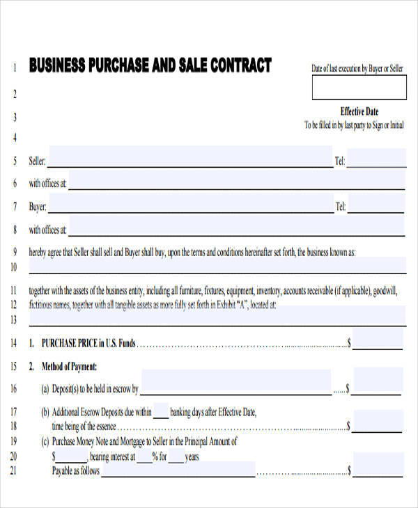 business sales contract novaondafm - Business Sale Contract