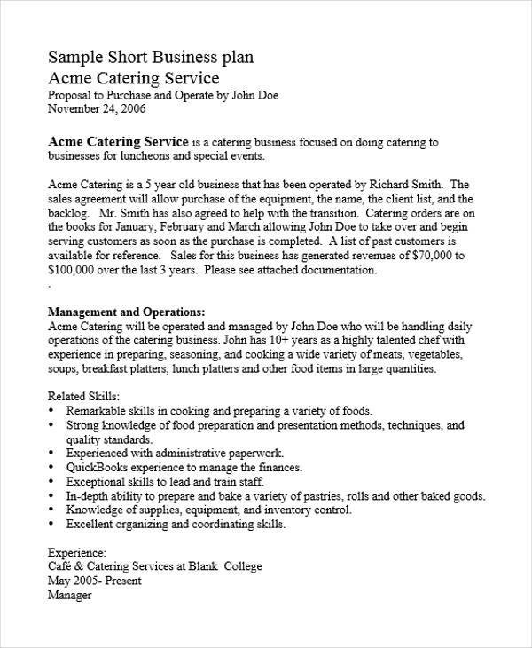 Catering Business Plan How To Start A Mobile Catering Business