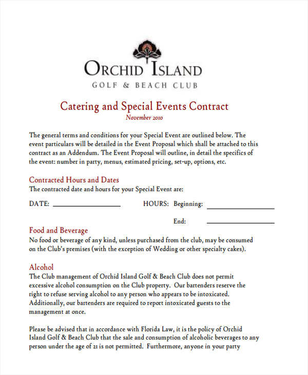 6+ Catering Proposal Template - Examples in Word, PDF - party proposal template