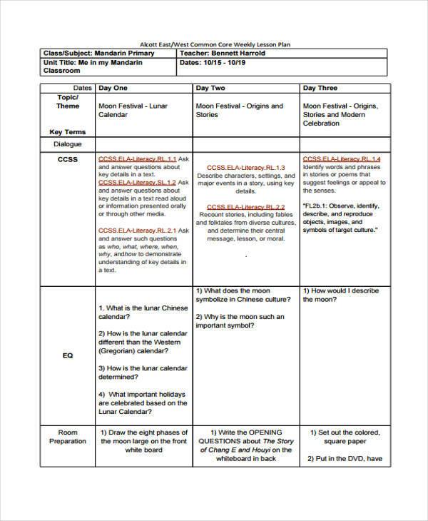 17 Lesson Plan Samples  Templates Sample Templates