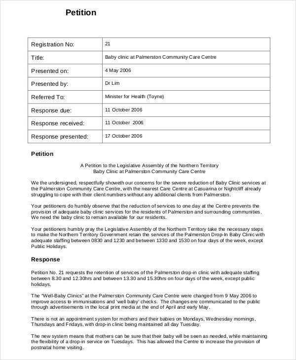 29+ Sample Petitions Sample Templates