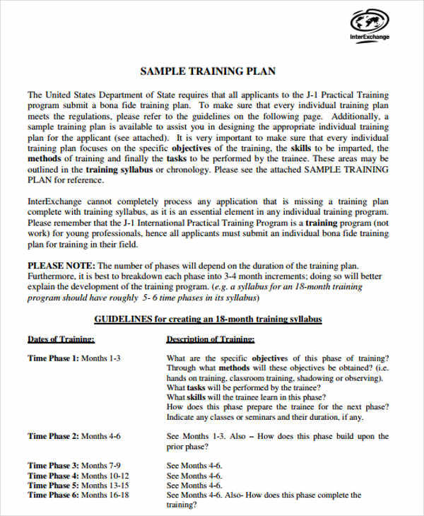 Stunning Program Agenda Template Images - Examples Professional - 9 training plan examples in word pdf