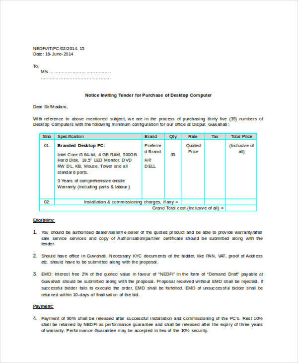 Standard Quotation Form quotation formats doc free premium - standard quotation form