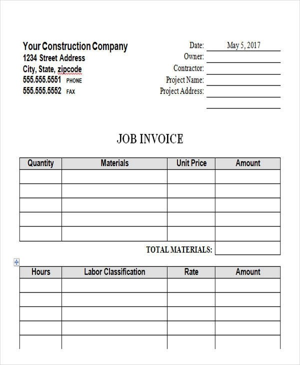 44+ Blank Invoice Samples - AI, PSD, Google Docs, Apple Pages