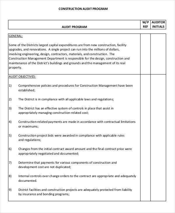 7 Audit Program Samples  Templates Sample Templates - sample audit program