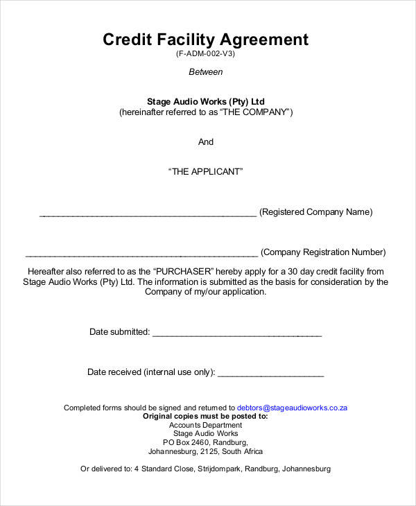 credit agreements - Basilosaur