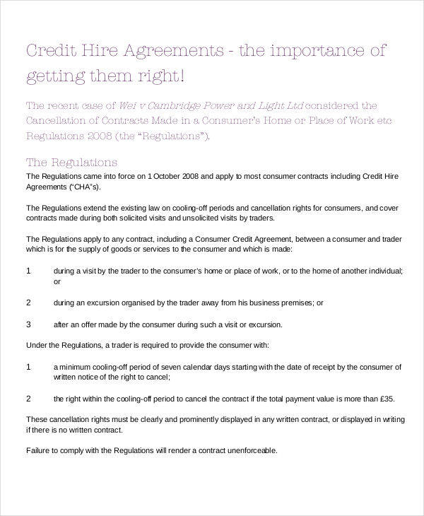 6+ Credit Agreement \u2013 Examples in Word, PDF Sample Templates - credit agreement
