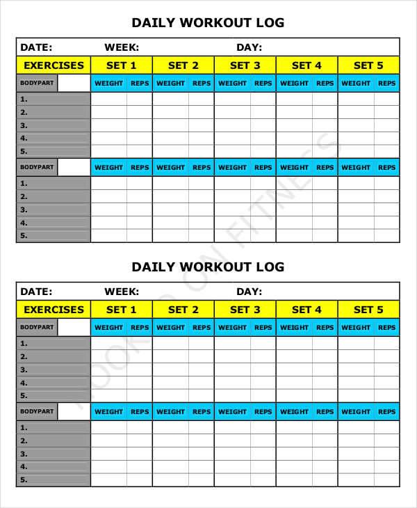 39+ Free Log Templates - exercise log template