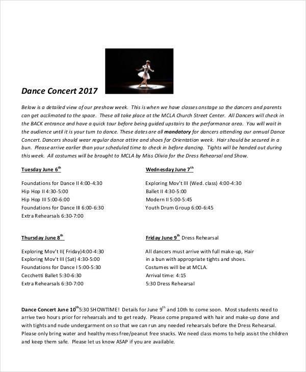 9 Concert Program Templates \u2013 Free Sample, Example, Format Download