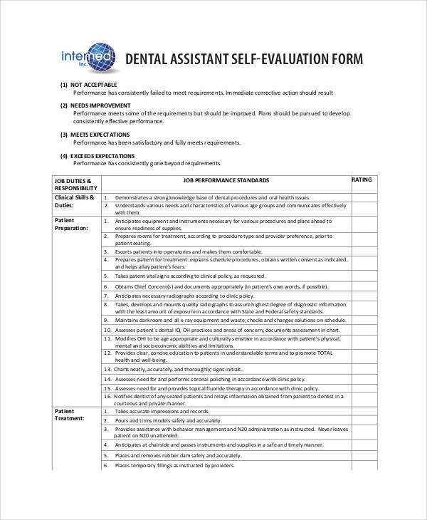 23 Employee Evaluation Form Examples  Samples Sample Templates