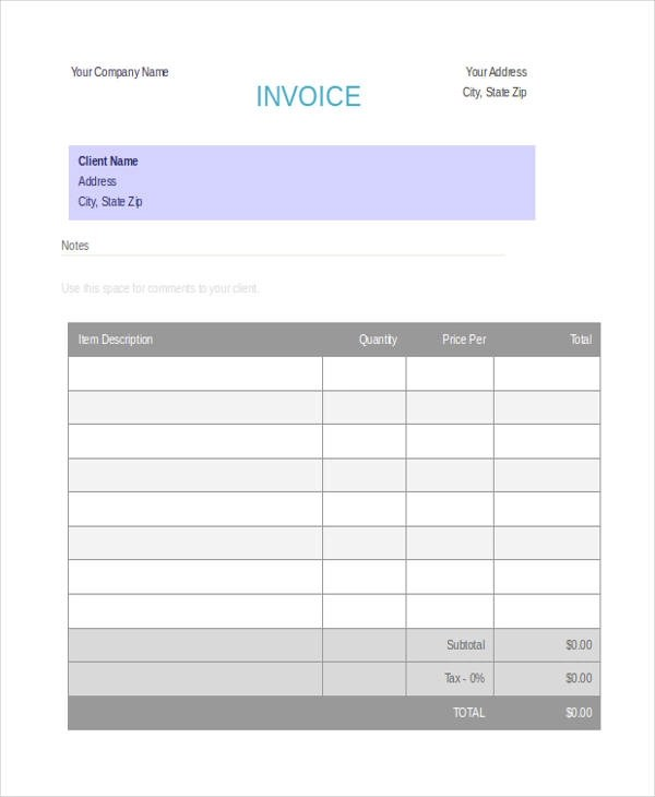 5+ Deposit Invoice Templates \u2013 Free Sample, Example, Format Download - payment invoice sample