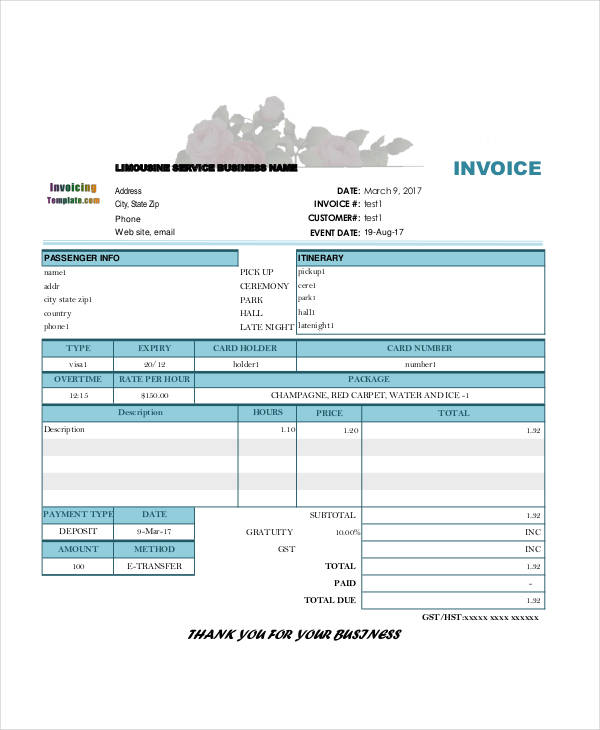 5+ Deposit Invoice Templates \u2013 Free Sample, Example, Format Download