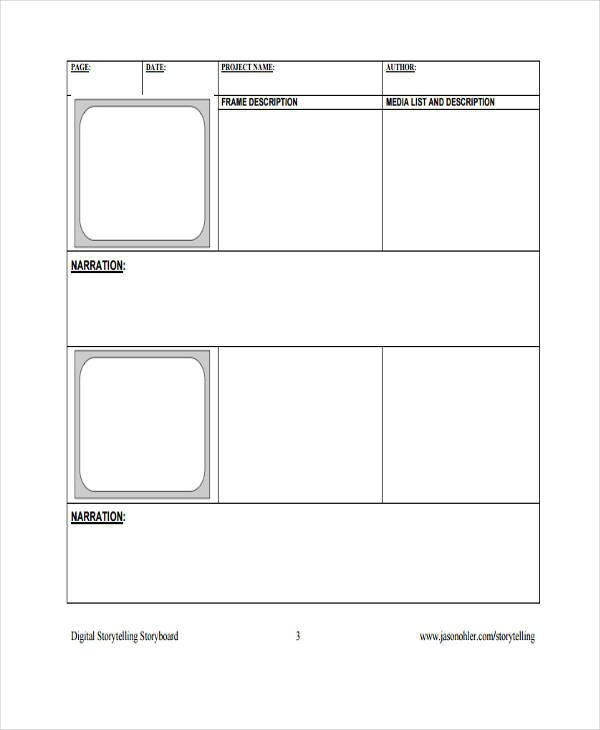 Media Storyboard Template Bomboncafeblank film storyboard template