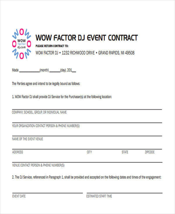 dj contracts