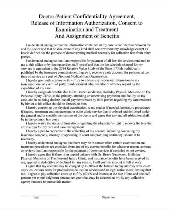 8+ Patient Confidentiality Agreement - Free Word, PDF Format Download